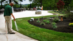Watering fresh sod Wagner Sod Company - Landscaping & Irrigation Inc.- Twin Cities